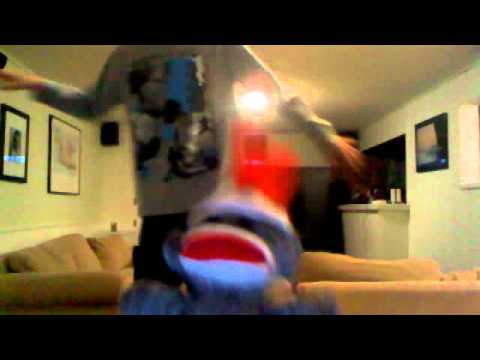 the baby dancing sock monkey: party rock