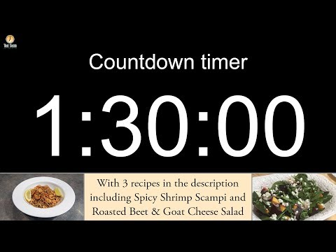 1 hour 30 minute Countdown timer (with alarm)