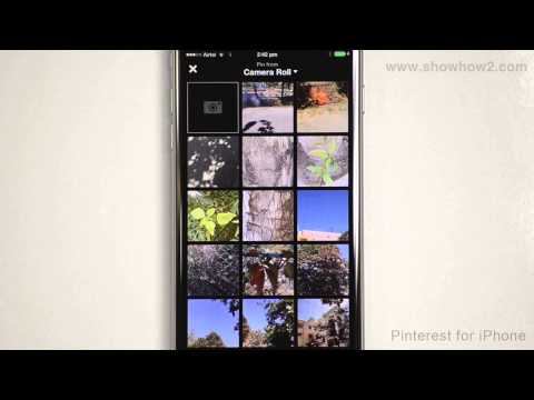 Pinterest For iPhone - How To Pin An Image From The Phone