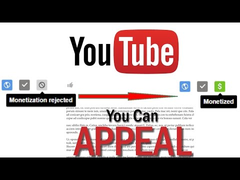 How to appeal a video rejected for Monetization on Youtube Tutorial
