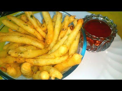 Tasty homemade potato sticks || potato snacks