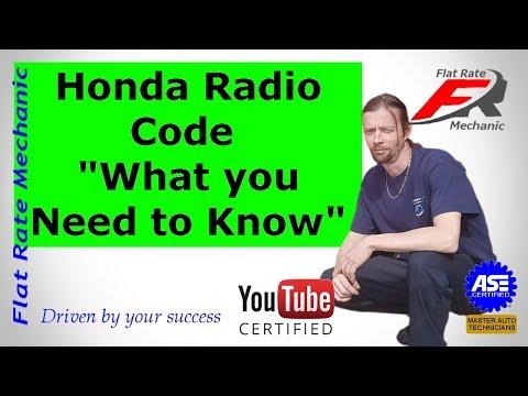 Honda Radio Code