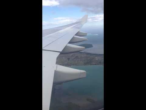 Aircalin flight landing at Noumea