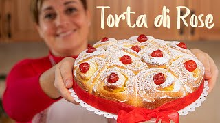 TORTA DI ROSE SOFFICE ALLA CREMA  Idea per Natale - Ricetta Facile di Benedetta