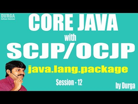 Core Java With OCJP/SCJP: java.lang.package Part-12 || object class || equals() || Hashcode()