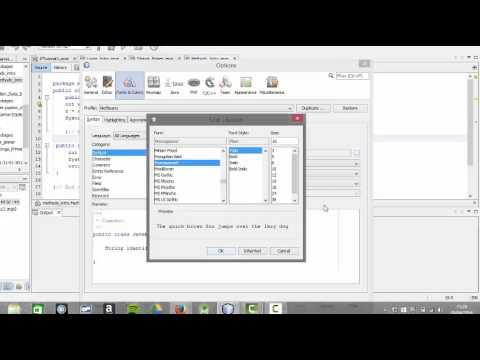 Java Beginner Programmer - Changing Font Size in NetBeans - An Aside