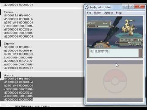 How to get arceus in platinum using action replay cheats