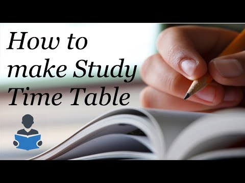 How to make Study Time Table Best Way
