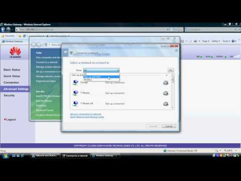 Setup WEP wifi security on the Huawei D100 router