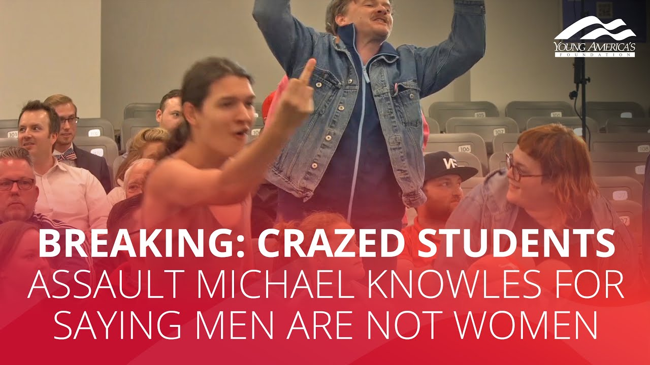 BREAKING: Crazed students assault Michael Knowles for saying men are not women