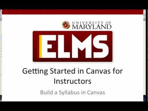 Getting Started Series: Building a Course Syllabus