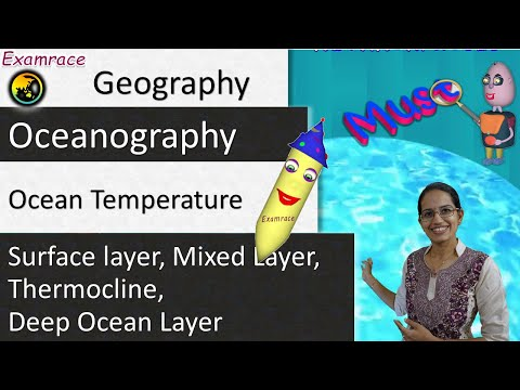 Explaining Ocean Temperature Variation in Depth using 3 Simple Concepts (Including Thermocline)