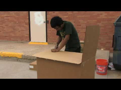 Cardboard Tent