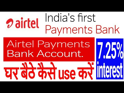 airtel payment bank account open and get 7.25% interest