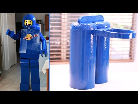 How to make an Awesome Lego Man Costume - Jet Pack (Lego Movie Benny)