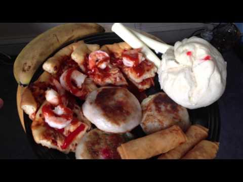 Weird Ass Cheat MeaL / Pizza, Dumplings & Egg Rolls