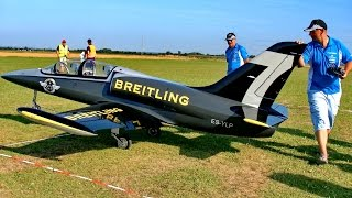 THE WORLD´S BIGGEST RC SCALE MODEL TURBINE JET L-39 ALBATROS XXXL / Euroflugtag Rheidt 2016
