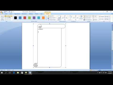 how to make a simple invitation letter use Microsoft Word