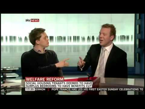 Owen Jones and The TPA discussing Bedroom Tax on Sky News