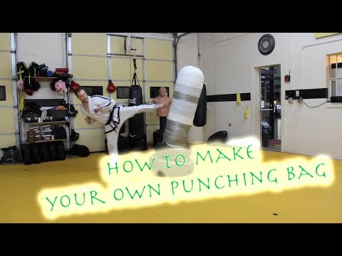 How to make a free standing punching bag