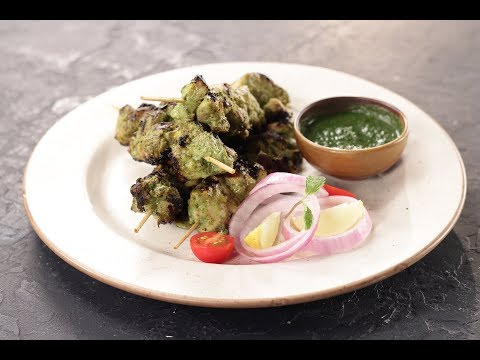 Hariyali Chicken Tikka   Sanjeev Kapoor Khazana