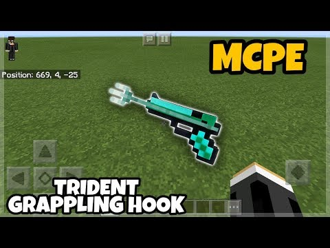 Minecraft PE: Trident Grappling Hook Tutorials
