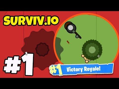 *NEW* .io BATTLE ROYALE GAME! - Surviv.io #1 - (BEST .io GAME YET?!)