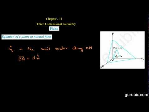 Hindi : Equation of Plane in Normal Form (Vector Form) - Ch 11 - CBSE Class 12th Math