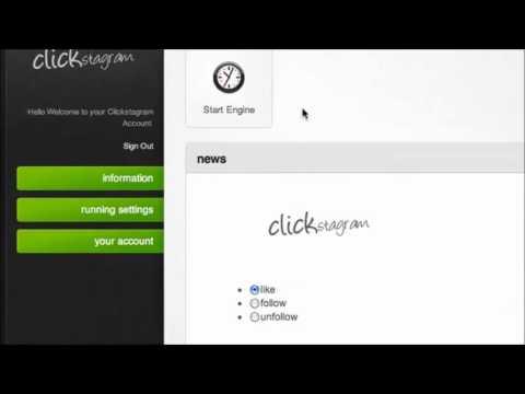 Clickstagram Platinum 2.0 - Windows, MAC OSX, Android - Instagram Followers 2013