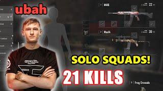 FaZe ubah - 21 KILLS - M416 + Mini14 - SOLO SQUADs! - PUBG