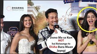 Download Tiger shroff Making Fun Of His Co stars Ananya Pandey & Tara Sutaria | student of the year 2 Video