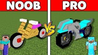 Minecraft Battle: NOOB vs PRO : MOTORBIKE BASE Challenge in Minecraft Animation