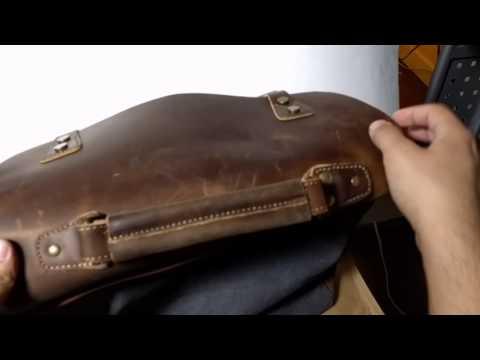 Men's Canvas and Leather Shoulder bag