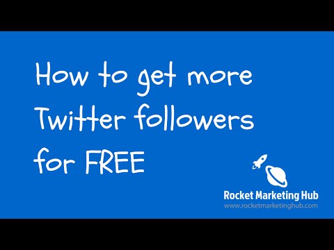 How to get more twitter followers free