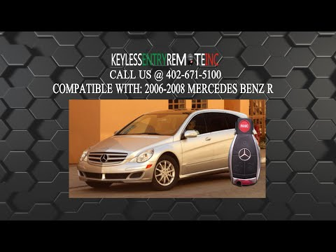 How To Replace A Mercedes Benz R320 R350 R500 R550 and R63 Key Fob Battery