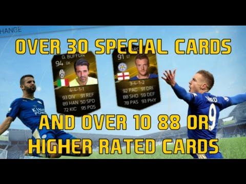 OMFG OVER 30 SPECIAL CARDS!!!! FIFA 16 MOBILE PACK OPENING AND PLAYER EXCHANGE!!!!