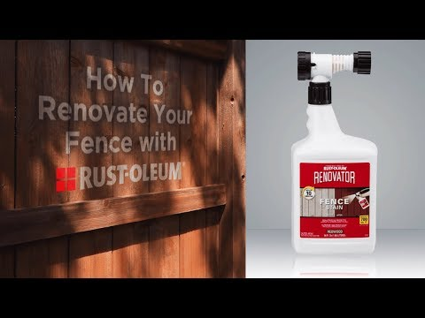 Learn How-To Stain Faded Wood Fencing with Renovator Fence Stain