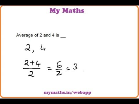 Ganit Margadarsak: Average of two numbers