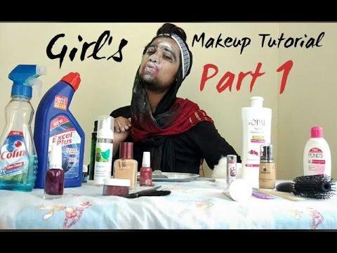 Girl's makeup tutorial part 1