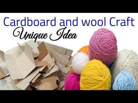 DIY Heart Shape Woolen Showpiece using Waste CardBoard & Woolen for Home Decor