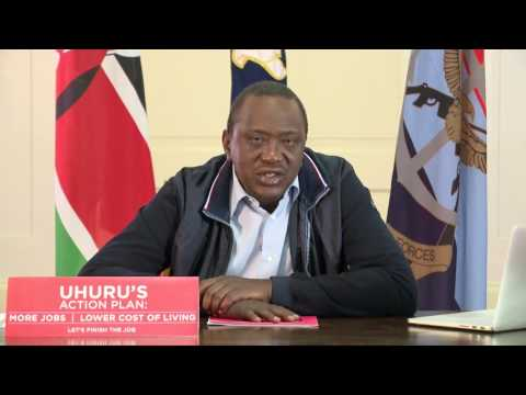 President Uhuru's take on measures for drought, unemployment and corruption'
