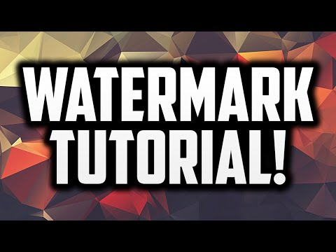 How To Make A Watermark For YouTube Videos in Photoshop!