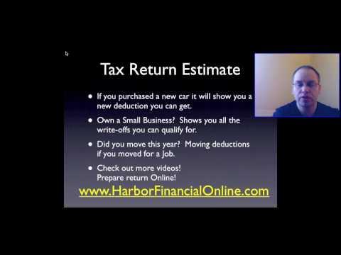 Tax Return Estimate in 2012, 2013
