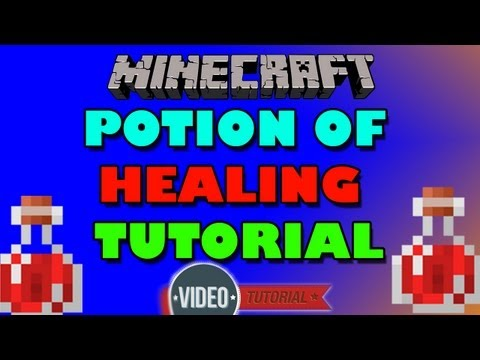 How to make a splash potion of Healing in MINECRAFT