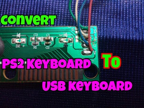 How To Convert PS2 Keyboard To USB Keyboard..[PS2 To USB]..Simple Process...Easy Way..