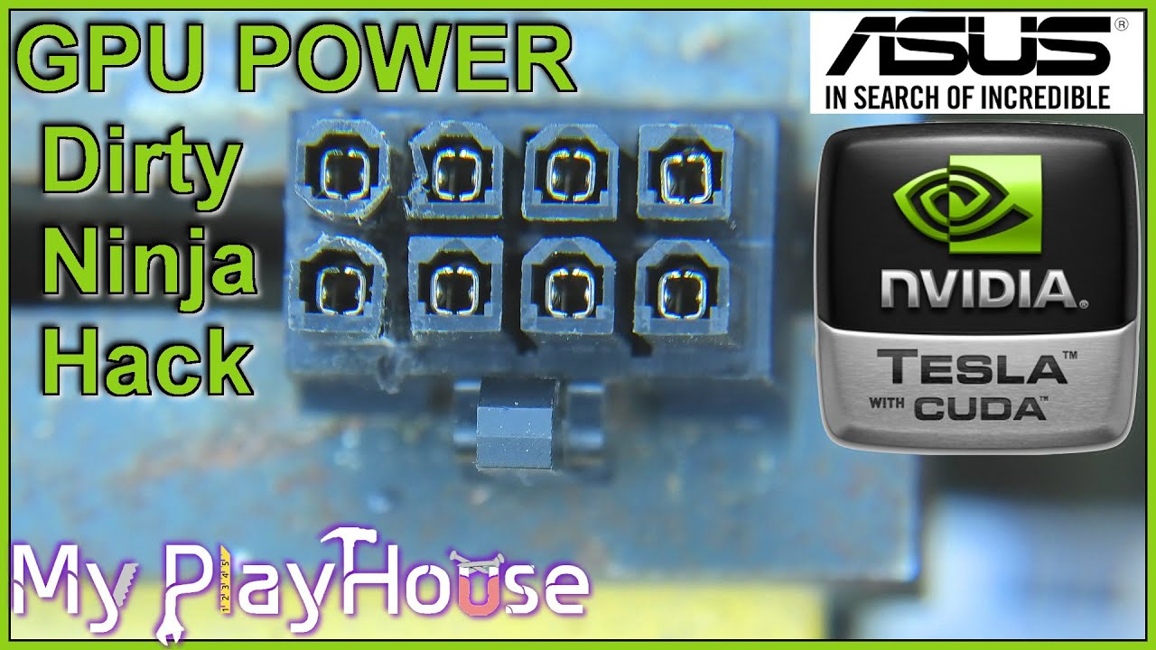 Ninja Hacking Power for Nvidia Tesla K80 in ASUS ESC4000 G2 - 1040