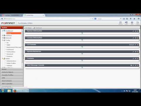 Fortigate Firewall Installation and Configuration - Getting Started