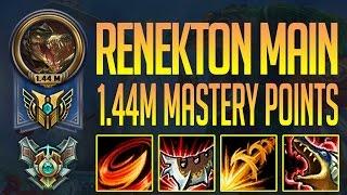 RENEKTON MONTAGE - 1.44 MILLION MASTERY POINTS - KOREA MASTER RENEKTON BEST PLAYS - RENEKTON MAIN