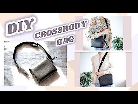 DIY CROSSBODY BAG / ファスナーポシェット / ショルダーバッグの作り方 / Costura / Sewing Tutorialㅣmadebyaya