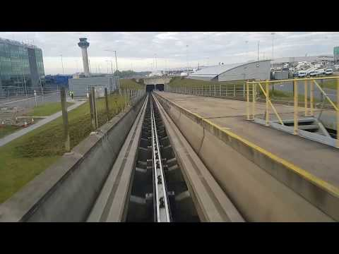 London Stansted airport terminal train journey  Gate Transit